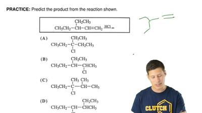 Predict the product from the reaction shown. ...
