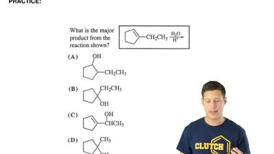 What is the major product from the reaction shown? ...