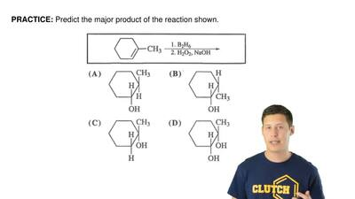 Predict the major product of the reaction shown. ...