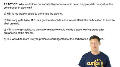 Why would the concentrated hydrobromic acid be an inappropriate catalyst for t...