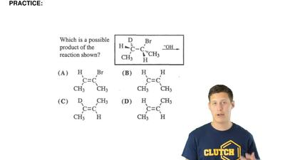 Which is a possible product of the reaction shown? ...