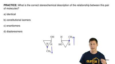 What is the correct stereochemical description of the relationship between thi...