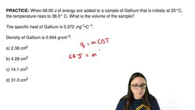 When 68.00 J of energy are added to a sample of Gallium that is initially at 2...