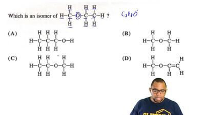 Which is an isomer of the structure that is given in the box below? ...