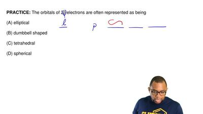 The orbitals of 2p electrons are often represented as being  (A) elliptical  (...