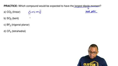 Which compound would be expected to have the largest dipole moment?  a) CO2 (l...