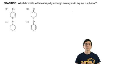 Which bromide will most rapidly undergo solvolysis in aqueous ethanol? ...
