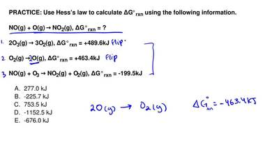 Use Hess's law to calculate ∆G°rxn using the following information.  NO(g) + O...