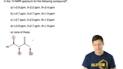 Which of the following is a correct prediction of the chemical shifts for the ...
