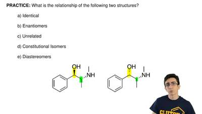 What is the relationship of the following two structures?  a) Identical  b) En...