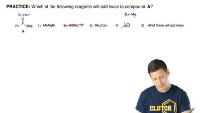 Which of the following reagents will add twice to compound   A? ...