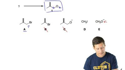 Which combination of starting materials will produce compound  1?  1) A / E an...