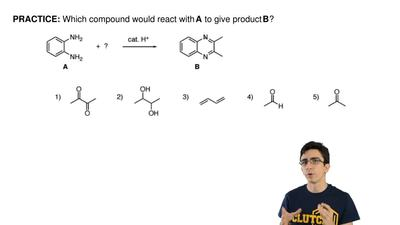 Which compound would react with  A to give product B? ...