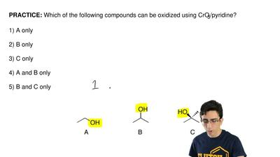 Which of the following compounds can be oxidized using CrO3/pyridine?  1) A on...