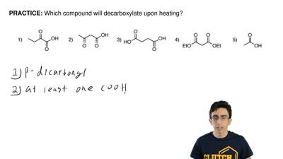 Which compound will decarboxylate upon heating? ...