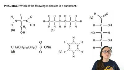 Which of the following molecules is a surfactant? ...