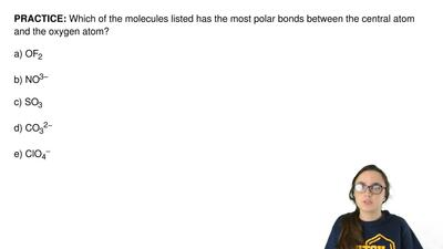 Which of the molecules listed has the most polar bonds between the central ato...