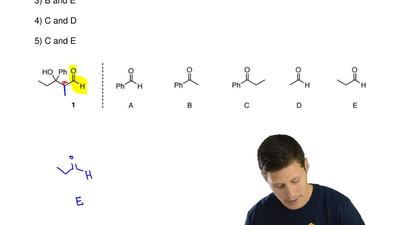 Compound 1 could be obtained by an aldol reaction between which two starting m...