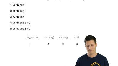 Which combination of reagents (A-D) would produce compound 1?  1) A / C only  ...
