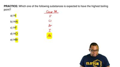 Which one of the following substances isexpected to have the highest boiling ...