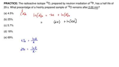 The radioactive isotope 19O, prepared by neutron irradiation of  19F, has a ha...
