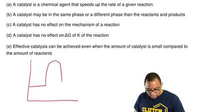 Which one of the following statements regarding catalysts is  FALSE?  (a) A ca...