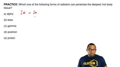 Which one of the following forms of radiation can penetrate the deepest into b...