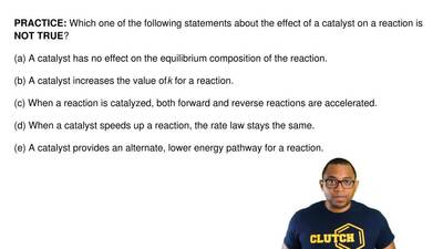 Which one of the following statements about the effect of a catalyst on a reac...