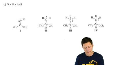 Which is the correct order of decreasing acid strength for these species? (mos...