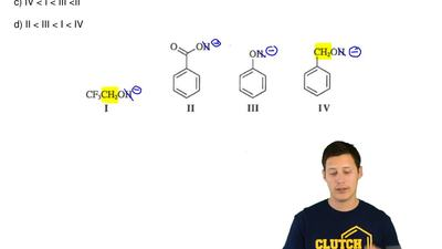 What is the order of acidity from the weakest to strongest acid for these comp...