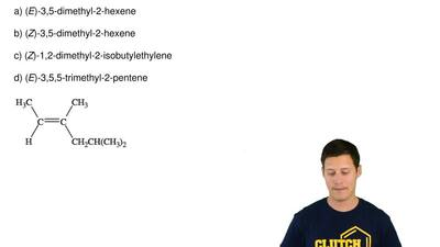 Provide the IUPAC name for the compound given below.   a) (E)-3,5-dimethyl-2-h...