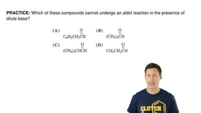 Which of these compounds cannot undergo an aldol reaction in the presence of d...