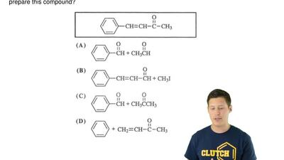 Which set of reactants, in the presence of a basic catalyst, could be used to ...