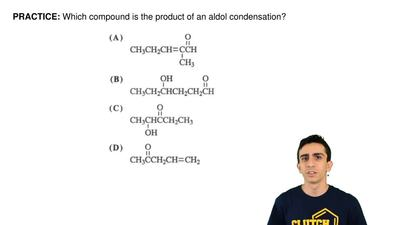 Which compound is the product of an aldol condensation? ...