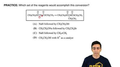 Which set of the reagents would accomplish this conversion? ...
