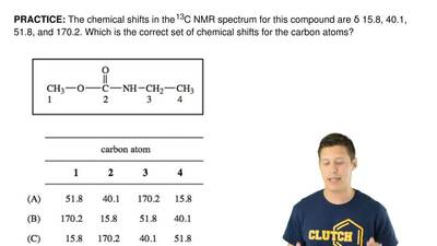 The chemical shifts in the 13C NMR spectrum for this compound areδ 15.8, 40.1...