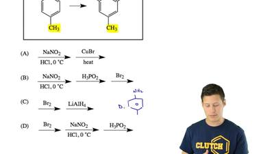 Which sequence of reagents will accomplish this transformation? ...