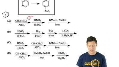 Which sequence of reagents will effect this transformation? ...