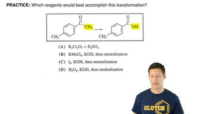 Which reagents would best accomplish this transformation? ...