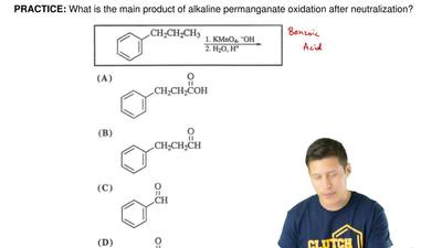 What is the main product of alkaline permanganate oxidation after neutralizati...