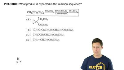 What product is expected in this reaction sequence? ...