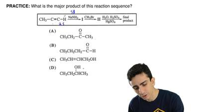 What is the major product of this reaction sequence? ...