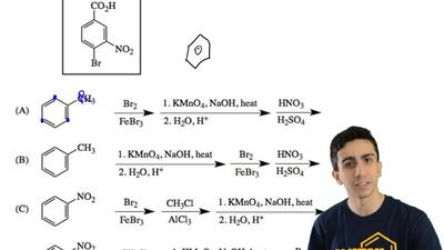 Which reaction sequence would be used to synthesize this compound? ...