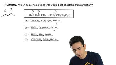 Which sequence of reagents would best effect this transformation? ...