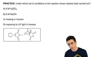 Under which set of conditions is the reaction shown (below) best carried out? ...