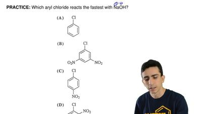 Which aryl chloride reacts the fastest with NaOH? ...