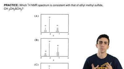 Which 1H NMR spectrum is consistent with that of ethyl methyl sulfide, CH 3CH2...