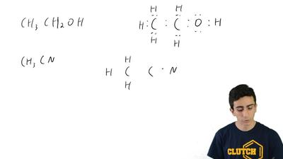 Draw a Lewis dot structure for each of the following compounds:  (b) CH3CN ...