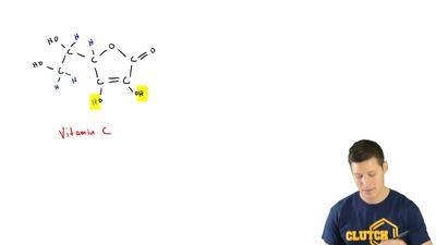 Draw the bond-line structurefor vitamin C: ...