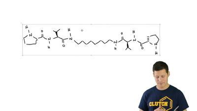 The following compound is an amino acid derivative (Chapter 25). In solution, ...